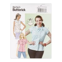 Butterick B6563 Patterns by Gertie Misses' Top E5 (Sizes 14-22)