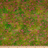 Anthology Batiks Changing Seasons Dutch Tulips Melon