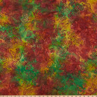 Anthology Batiks Changing Seasons Falling Leaves Watermelon