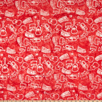 Anthology Batiks Rhythm Of The Night Novelty Instruments Red