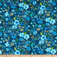 Dear Stella Digital Blue Crush Night Garden Multi