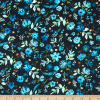 Dear Stella Digital Blue Crush Windblown Floral Multi