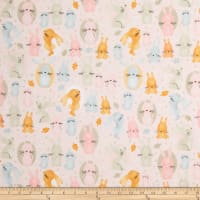 Comfy Flannel Print Bunnies Pink
