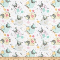 Comfy Flannel Print Knitting Sheep White