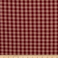Homespun Burgundy & Cream Plaid