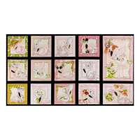 "Loralie Designs Flamingo Fancy 24"" Flams Panel Black"