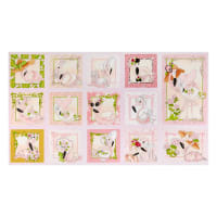 "Loralie Designs Flamingo Fancy 24"" Flams Panel Pink"