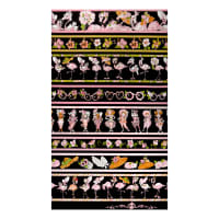 Loralie Designs Flamingo Fancy Flams Border Black