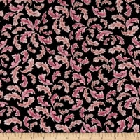 Loralie Designs Flamingo Fancy Flam Feathers Black