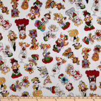 Loralie Designs Sew Curious Curious Toss White