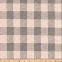 Premier Prints Buffalo Plaid Cotton Duck Blush Grey