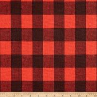 Premier Prints Buffalo Plaid Cotton Duck Red/Black