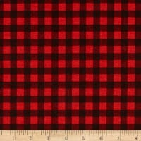 Premier Prints Newton Plaid Cotton Duck Black/Red