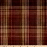 Beacon Hill Pampas Plaid Linen Woven Teak