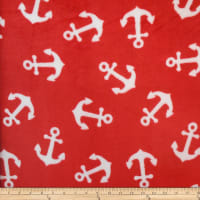 Coral Fleece KC Anchors Red