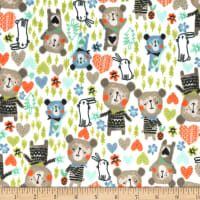 Michael Miller Minky Bears and Bunnies Bears and Bunnies Forest