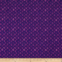 Swimwear Nylon Spandex Abstract Diamond Plum
