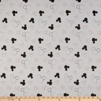 Disney Mickey Mouse Flannel Head Toss Gray