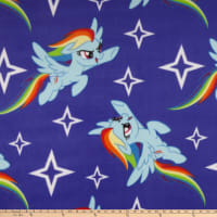Hasbro My Little Pony Fleece Rainbow Dash Toss Blue