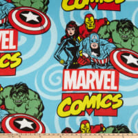 Marvel Digial Retro Comics Fleece Ready For Action Blue