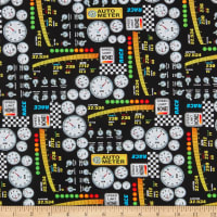 Henry Glass Start Your Engines Dashboard Print Black
