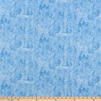 Henry Glass Winter Cottage Texture Ice Blue