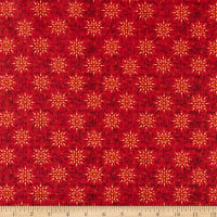 Henry Glass Liberty Star Starburst Deep Red
