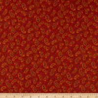 Henry Glass Liberty Star Star Paisley Deep Red