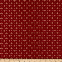 Henry Glass Liberty Star Shirting Stars Deep Red