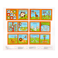 "Henry Glass Little Readers 36"" Counting Monkey Book Panel Multi"