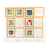 "Henry Glass Little Readers 36"" Rhyme Time Book Panel Multi"
