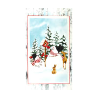 "Henry Glass Snow Days Snowman  24"" Panel Blue"