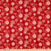 Henry Glass Snow Days Swirling Snowflakes Red