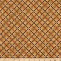 Henry Glass Flannel Woodland Haven Plaid Brown