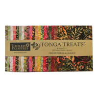 "EXCLUSIVE Timeless Treasures Tonga Treats Batiks 5"" Square Pack 40 Pcs Spark"