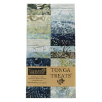 "EXCLUSIVE Timeless Treasures Tonga Treats Batiks 2.5"" Strip Pack 20 Pcs Shore"
