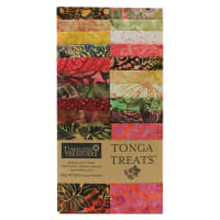 "EXCLUSIVE Timeless Treasures Tonga Treats Batiks 2.5"" Strip Pack 20 Pcs Spark"