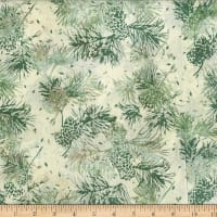Hoffman Bali Batik Pine Cone Needles Natural