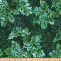 Hoffman Bali Batik Oak Leaves Pine