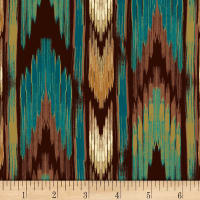 David Textiles Southwest Stripe Teal/Multi