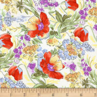 Evelyn's Tulips Ivory/Red