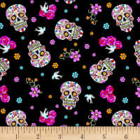 Day Of The Dead W/Glitter Black/Multi