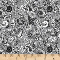 Paisley Sorbet Black/Grey