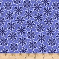 Deco Floral Blue/Navy