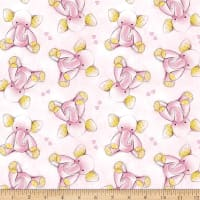 Sleepytime Elephants Flannel Pink