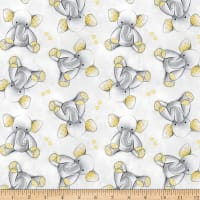Sleepytime Elephants Flannel Grey