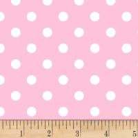 Fun Dots Flannel Pink