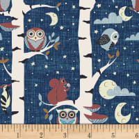 Stoffabric Denmark Hush-a-Bye Woods Animals Blue