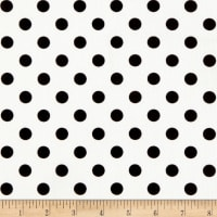 Liverpool Double Knit Polka Dot Black on Off White