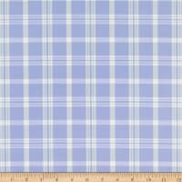 Duralee 6011 Sutton Plaid Silk Blend 68 Periwinkle